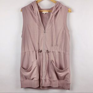 Maurice's Cinche Waist Hooded Vest Large